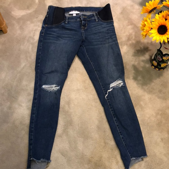"""492f202147ecb isabel maternity Denim - Maternity """"ripped jeans """"style. Size 2 Stretch"""